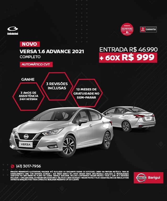 Novo Nissan Versa 1.6 Advance 2021